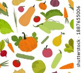 seamless pattern with... | Shutterstock . vector #1887655006