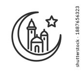 mosques for a big month  a star.... | Shutterstock .eps vector #1887656323