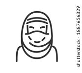 hijab  a traditional muslim... | Shutterstock .eps vector #1887656329