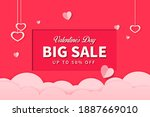 paper style valentine's day... | Shutterstock .eps vector #1887669010