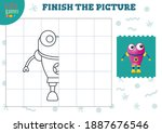 complete the picture vector... | Shutterstock .eps vector #1887676546