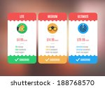 subscription pricing plan... | Shutterstock .eps vector #188768570