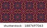 seamless arabic geometric tile... | Shutterstock .eps vector #1887697063