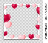 empty blank photo frame with...   Shutterstock .eps vector #1887735850
