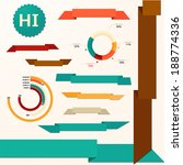 collection of the ribbons and... | Shutterstock .eps vector #188774336