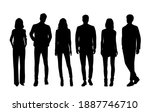 vector silhouettes of  men and... | Shutterstock .eps vector #1887746710