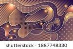 overlapping beige magenta  with ...   Shutterstock .eps vector #1887748330
