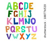 multicolored alphabet curve | Shutterstock .eps vector #188776520