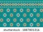 abstract ethnic geometric... | Shutterstock .eps vector #1887801316