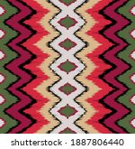 ikat border. geometric folk... | Shutterstock .eps vector #1887806440