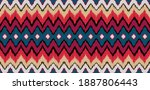 ikat border. geometric folk... | Shutterstock .eps vector #1887806443