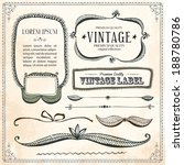 vintage frames and design... | Shutterstock .eps vector #188780786