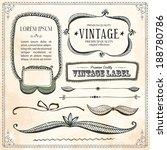 drawn hand line design elements ...   Shutterstock .eps vector #188780786