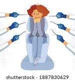 dentophobia fear of dentist... | Shutterstock .eps vector #1887830629
