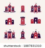 fortresses emblems vector... | Shutterstock .eps vector #1887831310
