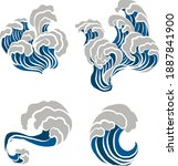 japanese wave vector... | Shutterstock .eps vector #1887841900