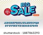 fancy 3d pop art alphabet  | Shutterstock .eps vector #1887863293