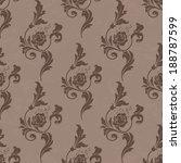 vector  pattern endless floral... | Shutterstock .eps vector #188787599