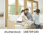 boy taking photograph of... | Shutterstock . vector #188789180