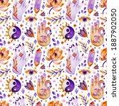 seamless pattern with elements...   Shutterstock . vector #1887902050