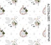 childish seamless pattern for... | Shutterstock .eps vector #1887902179