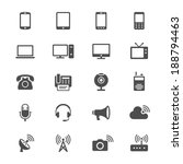 communication device flat icons | Shutterstock .eps vector #188794463