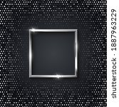 silver square frame for picture ... | Shutterstock .eps vector #1887963229