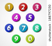 numbers set  colorful web icon... | Shutterstock .eps vector #188797250