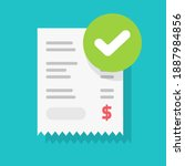 success approved payment check... | Shutterstock .eps vector #1887984856