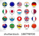 a collection of world badges... | Shutterstock .eps vector #188798930