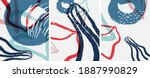 social media doodle shapes... | Shutterstock .eps vector #1887990829