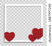 empty blank photo frame with... | Shutterstock .eps vector #1887997240