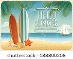 vector summer background with... | Shutterstock .eps vector #188800208