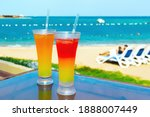 Two Colorful Tropical Drinks...