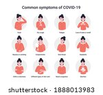 set icons common symptoms of...   Shutterstock .eps vector #1888013983