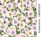 seamless background with roses  ... | Shutterstock .eps vector #188802323