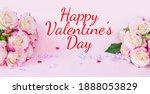 delicate bouquet of bushy peony ...   Shutterstock . vector #1888053829