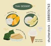 thai dessert food dessert sweet ...   Shutterstock .eps vector #1888056763