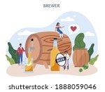 beer concept. craft beer... | Shutterstock .eps vector #1888059046