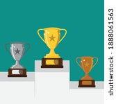 top ranking winner trophy... | Shutterstock .eps vector #1888061563
