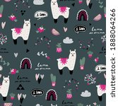 vector seamless pattern with... | Shutterstock .eps vector #1888064266