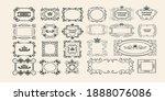 decorative vintage floral... | Shutterstock .eps vector #1888076086