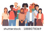 multinational people group... | Shutterstock .eps vector #1888078369