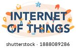 internet of things typographic... | Shutterstock .eps vector #1888089286
