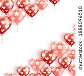 happy valentine's day. flying...   Shutterstock .eps vector #1888096510