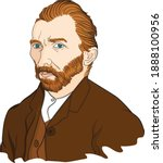 vectorial portrait illustration ... | Shutterstock .eps vector #1888100956