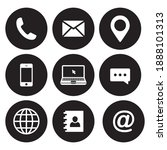 contact us icons. contains...   Shutterstock .eps vector #1888101313