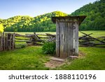 Old Wooden Outhouse In The...