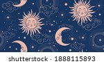 seamless cosmic pattern with...   Shutterstock .eps vector #1888115893