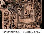 motherboard  circuit of high...   Shutterstock . vector #1888125769